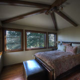 Interior casero del dormitorio Imagen de archivo