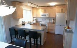 Interior casero ideal de la cocina Imagen de archivo libre de regalías