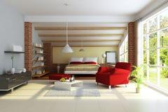 Interior casero moderno libre illustration