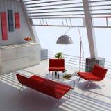 Interior casero moderno stock de ilustración