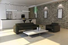 Interior casero moderno ilustración del vector