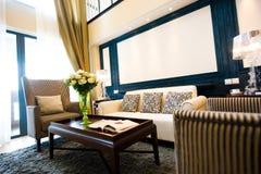 Interior casero moderno de la sala de estar Fotografía de archivo