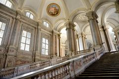 Interior of caserta palace Royalty Free Stock Photography