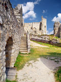 Interior of The Castle of Beckov. Summer view of preserved interior of ruined Beckov Castle. The Castle of Beckov is situated in village Beckov located in Stock Photography