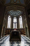 Interior of castle church of the Old Castle Royalty Free Stock Images