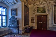 Interior Castle Czech Sternberg Stock Photos