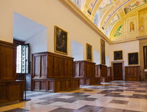 Interior of Castle Escorial near Madrid Spain Stock Photo