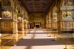 Interior in the castle Fontainebleau 3 Royalty Free Stock Images