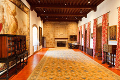 Interior of a castle's inner room stock photos
