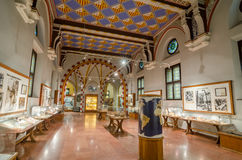 The interior of the castle Vajdahunyad in Budapest. Museum of agriculture. stock photography