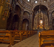 Interior of catalan church sanctuary Stock Image