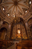 Interior of catalan church sanctuary Royalty Free Stock Photo