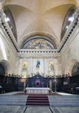 Interior of the Catedral of San Cristobal on the Cathedral Plaza, famous religious and touristic landmark. Havana, Cuba.  stock photo