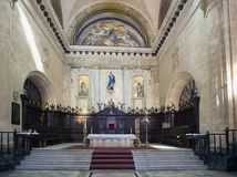 Interior of the Catedral of San Cristobal on the Cathedral Plaza, famous religious and touristic landmark. Havana, Cuba.  royalty free stock photo