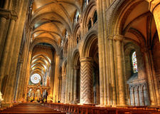 Interior of cathedral. Interior details of historic cathedral looking towards nave Royalty Free Stock Image