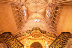Interior of the cathedral Royalty Free Stock Image