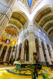 Interior of Cathedral of Almudena Royalty Free Stock Images