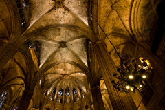 Interior cathedral Barcelona Royalty Free Stock Photos