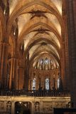 Interior of cathedral. Barcelona. Spain Stock Images