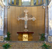 The interior Cathedral-Basilica of Cefalu Stock Photography