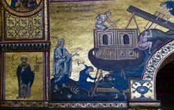 The interior Cathedral-Basilica of Monreale Stock Photos