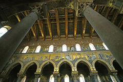 The interior Cathedral-Basilica of Monreale Royalty Free Stock Image