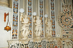 The interior Cathedral-Basilica of Monreale Stock Photos