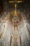 Interior Cathedral-Basilica of Monreale, Sicily, southern Italy. Stock Photos