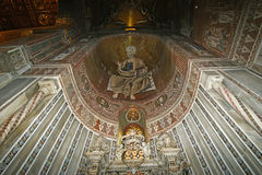 Interior Cathedral-Basilica of Monreale, Sicily, southern Italy. Stock Image