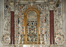 Interior Cathedral-Basilica of Monreale, Sicily, southern Italy. Royalty Free Stock Photo