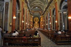 Interior of Cathedral Basilica and Sanctuary of the Lord and the Stock Photography