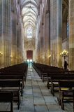 The interior of the cathedral in Batalha - Portugal. royalty free stock photos