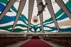 Interior of the Cathedral in Brasilia Stock Photo