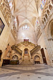 Interior of the Cathedral in Burgos, Spain Royalty Free Stock Image