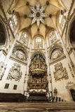 Interior of Cathedral in Burgos, Spain Stock Photography