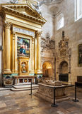 Interior of Cathedral in Burgos, Spain Royalty Free Stock Images