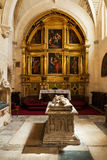 Interior of Cathedral in Burgos, Spain Stock Image