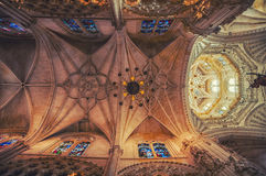 Interior of Cathedral in burgos Royalty Free Stock Image