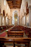 Interior of Cathedral in Cefalu, Sicily, Italy Royalty Free Stock Photography