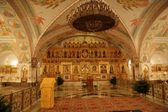 Interior of the Cathedral of Christ the Savior in Moscow Stock Photography