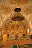 Interior of the Cathedral of Christ the Savior in Moscow Stock Photos