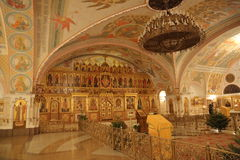 Interior of the Cathedral of Christ the Savior in Moscow Royalty Free Stock Image