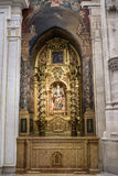 Interior of the Cathedral of Cuenca, St. Barbara's Chapel, situa Stock Photo