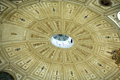 Interior of cathedral dome in Seville Stock Photo