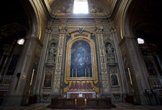 Interior at cathedral in Ferrara city, Italy Royalty Free Stock Photos