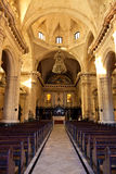 Interior of the Cathedral of Havana Royalty Free Stock Photography