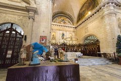 Interior of the Cathedral of Havana royalty free stock photos