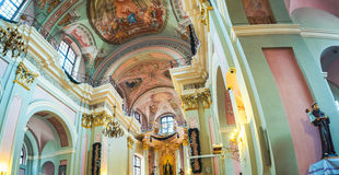 Interior of Cathedral of the Holy Name of Mary in Minsk royalty free stock image