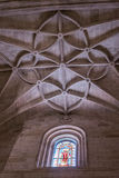 Interior of Cathedral of the incarnation, detail of vault formed by pointed arches, unique nature of fortress built in the 16th Stock Photo