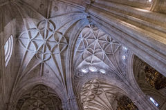 Interior of Cathedral of the incarnation, detail of vault formed by pointed arches, unique nature of fortress built in the 16th Royalty Free Stock Photos